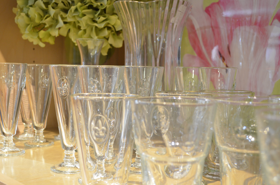 La Rochere Glassware. Sold by Clay & Cotton Kirkwood.