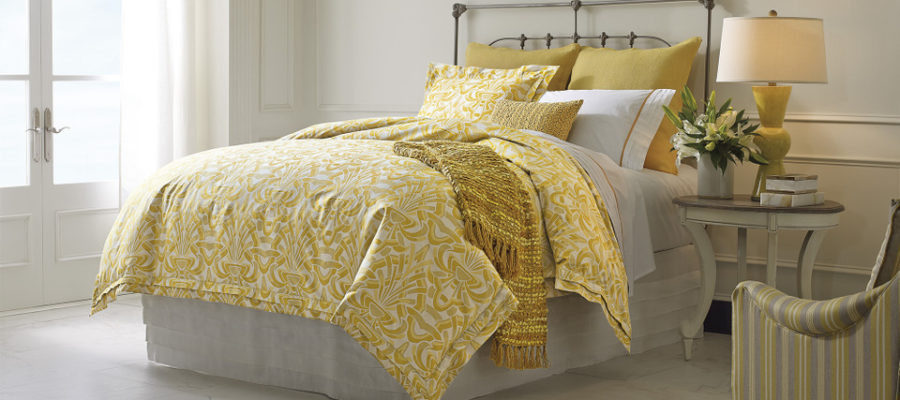 Company C Axelle Gold duvet Bedroom set