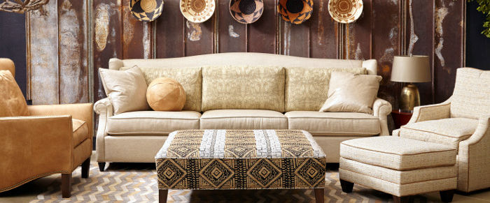 Norwalk Custom Furniture. Barrington Sofa & Edinburgh Ottoman