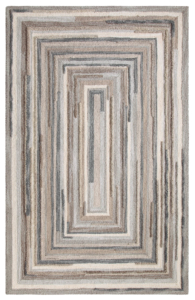 Company C Concentric Squares Gray Rug. Sold by Clay & Cotton Kirkwood