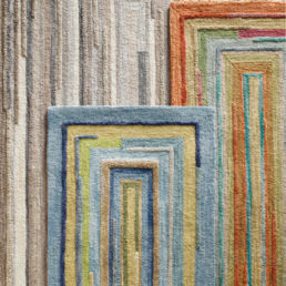 Company C Concentric Squares Rug. Sold by Clay & Cotton Kirkwood