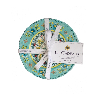 Madrid Turquoise Collection Appetizer Plate Set