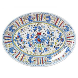 Rooster Blue Collection Platter