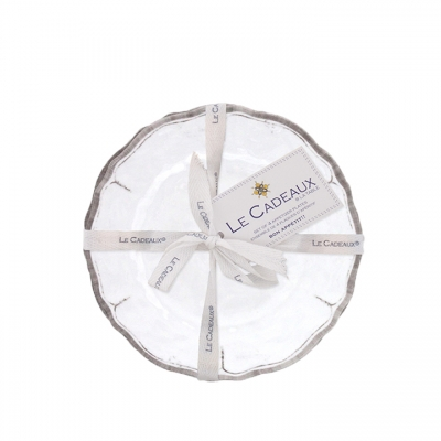 Rustica White Collection Appetizer Plate Set