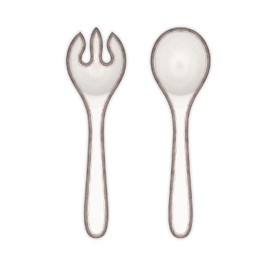Rustica White Collection Serving Set